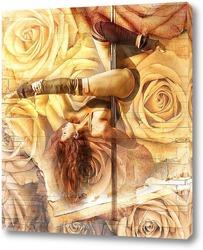 Pole dance и розы