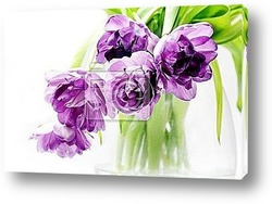 Постер Tulips bouquet in vase