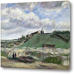 Холм Монмартр с каменоломней, 1886