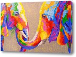 Картина Забота слонов
