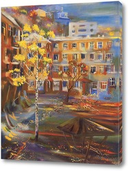 Картина Осенний городок