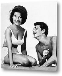 Аннет Фелицелли и Фрэнк Авалон в фильме<Пляжная команда>,1967г.