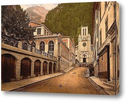 Постер О-Бон, Пиренеи, Франция.1890-1900 гг