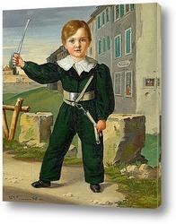 Постер Портрет мальчика в военной форме, 1833