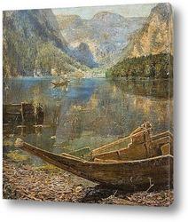 Картина озеро Хальштеттер