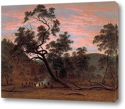 Туземцы на реке Уз.Тасмания