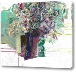 Постер букет в синей вазе