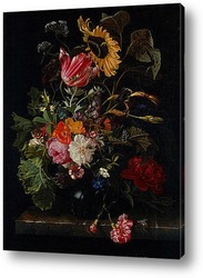 Натюрморт с цветами, насекомыми