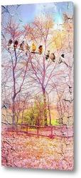 Деревья и птички