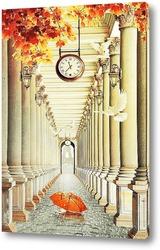 Постер Яркая колоннада