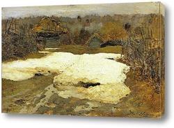 Последний снег. Саввинская слобода. 1884