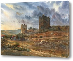 Картина Феодосия. Генуэзская крепость
