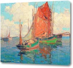 Постер Лодки c тунцом