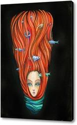 Картина рыбки  в  волосах
