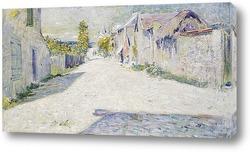 Картина Живерни: Дорога с видом на запад в сторону церкви.