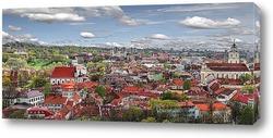 Постер Вильнюс панорама