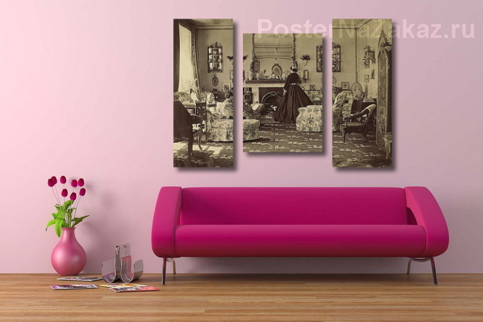 Постер в интерьере комнаты