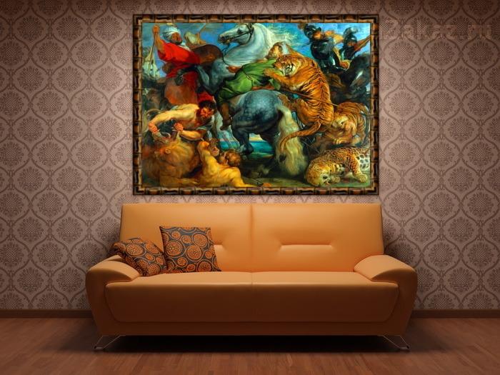 Картины с тиграми в интерьере