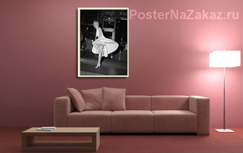 Модульная картина Мерлин Монро позирующая на решётке подземки,1954г.
