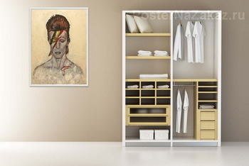 Модульная картина Дэвид Боуи рок звезда