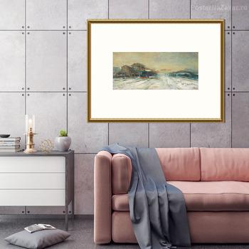 Модульная картина Мост Сан-Кристофоро с гамбургом