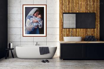 Модульная картина Мария с младенцем