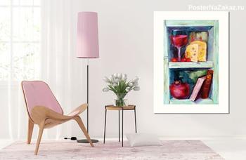 Модульная картина Натюрморт с сыром