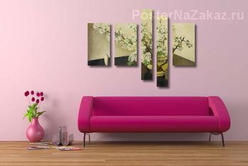 Декоративно пано вишнев цвят