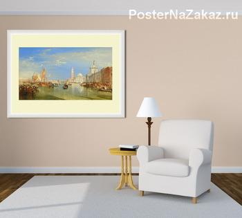 Модульная картина Венеция: Dogana и Сан-Джорджо Маджоре