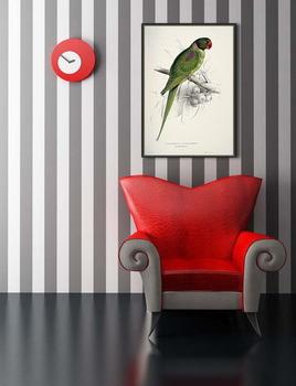 Модульная картина Попугай с капюшоном