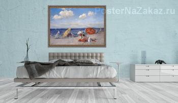 Модульная картина На берегу моря, 1892