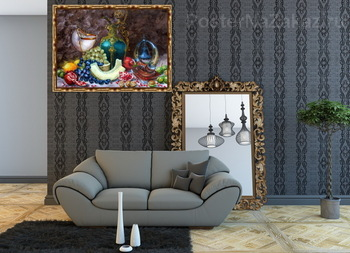 Модульная картина Натюрморт с грецкими орехами