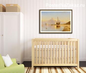 Модульная картина Пляж,Новая Англия
