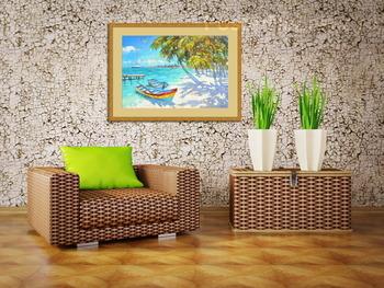 Модульная картина Лодки у берега