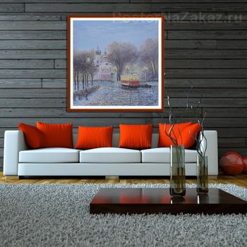 Модульная картина Трамвай  городских огней...2017..