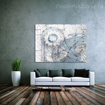 Модульная картина Шестеренки