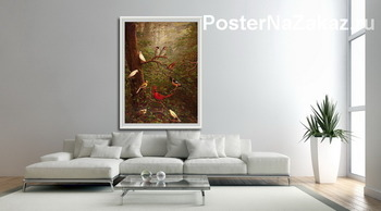 Модульная картина Лесные птицы