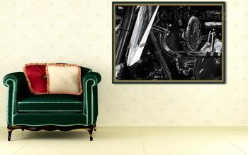Модульная картина Harley-Davidson в деталях.
