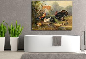Модульная картина Птичий двор