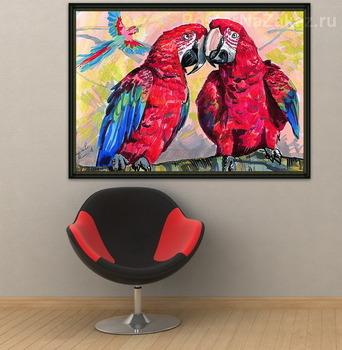 Модульная картина Красные ара