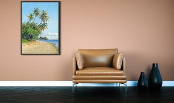 Модульная картина Гавайский пляж с пальмами, 1932
