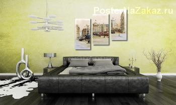 Модульная картина Улица Пикадили