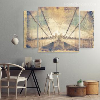 Модульная картина мост Бристоль