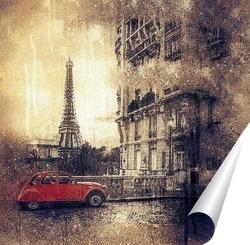 Постер Парижская улица