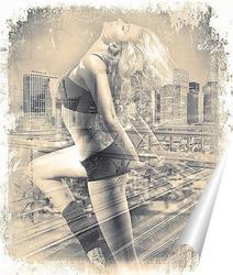 Постер Танец на фоне мегаполиса