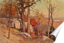 Постер Осень с видом на долину
