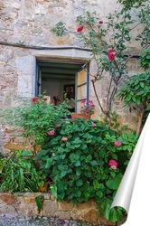 Постер Окно с цветником
