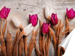 Постер Яркие тюльпаны