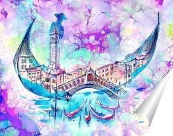 Постер Яркая Венеция