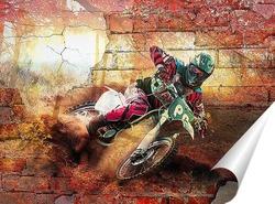 Постер Осенний мотокросс